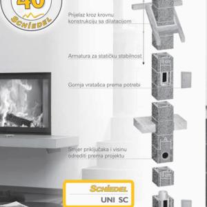Dimnjak Schiedel UNI SC set - 7m
