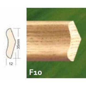 Lajsna drvena F10 35x12x2200