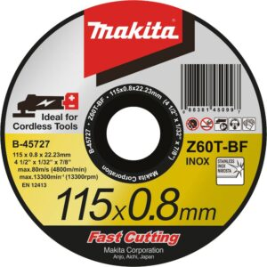 Rezna ploča 115x0.8 mm Inox Makita B-45727