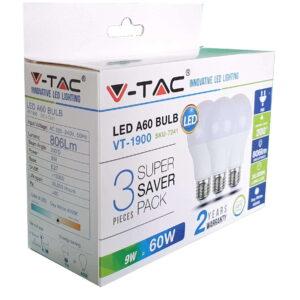 LED žarulje 3 1 9W E27 A60 termoplastična