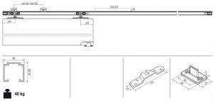 Okov za klizna drvena vrata 16 20m imgs tec.0400.40