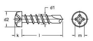 Vijak za lim samourezivi cilindrični DIN7504N ZN