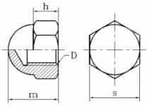 Slijepa matica DIN1587 skica