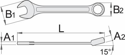 Ključ viljuškasto okasti dugi 120 1