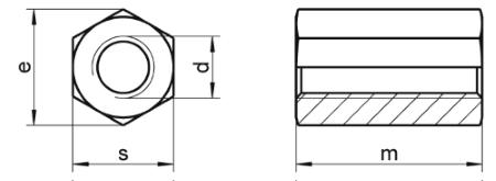 Matica šesterokutna duga DIN6334