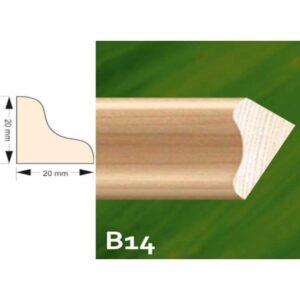 Lajsna za lamperiju 20×20 2m B 14