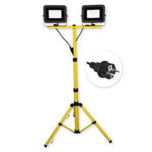 LED reflektor na stativu 2x30W