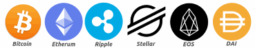 Plaćanje kriptovalutama Bitcoin, Etherum, Ripple, Stellar, EOS, DAI