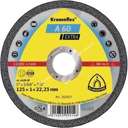 Rezna ploča Klingspor A60 inox - čelik